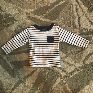 MAYORAL Navy Blue Striped Long Sleeve Shirt